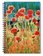 Poppies And Traverses 2 Spiral Notebook