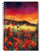 Poppies At Sunset 67 Spiral Notebook