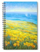 Poppies Greeting Whales Spiral Notebook
