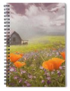 Poppies In A Dream Watercolor Painting Spiral Notebook