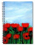 Poppies In A Field Spiral Notebook
