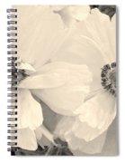 Poppies In Monochrome Spiral Notebook
