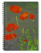 Poppies In Neon Spiral Notebook