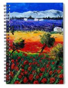 Poppies In Provence Spiral Notebook