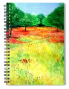 Poppies In The Almond Grove Spiral Notebook