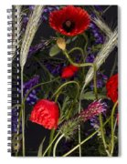 Poppies In The Corn Spiral Notebook