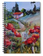 Poppies In The Field Spiral Notebook