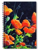 Poppies In The Light Spiral Notebook