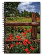 Poppies In The Texas Hill Country Spiral Notebook