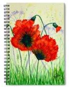 Poppies In The Wild Spiral Notebook