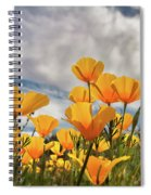 Poppies In The Wind Part Two  Spiral Notebook