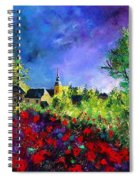 Poppies In Villers Spiral Notebook