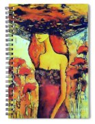 Poppies Lady Spiral Notebook