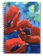Poppies Splender Spiral Notebook
