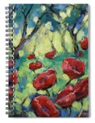 Poppies Through The Forest Spiral Notebook
