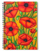 Poppies Under The Tuscan Sun Spiral Notebook