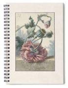 Poppies, Willem Van Leen, 1804 Spiral Notebook