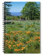 Poppies With A View At Oak Glen Spiral Notebook