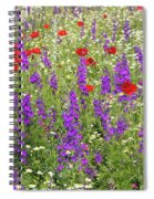 Poppy And Wild Flowers Meadow Nature Scene Spiral Notebook