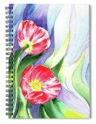 Poppy Couple Gentle Wind Spiral Notebook