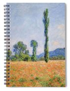 Poppy Field, Giverny Spiral Notebook