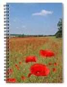 Poppy Fields 1 Spiral Notebook