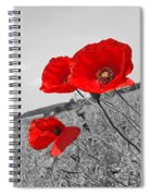 Poppy Fields 2 Black And White Spiral Notebook