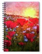 Poppy Fields At Dawn Spiral Notebook