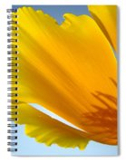 Poppy Flower Art Print Poppies 13 Botanical Floral Art Blue Sky Spiral Notebook