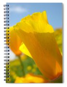 Poppy Flowers Meadow 3 Sunny Day Art Blue Sky Landscape Spiral Notebook