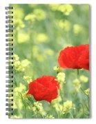Poppy Flowers Spring Scene Spiral Notebook
