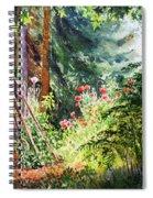 Poppy Garden Landscape Spiral Notebook