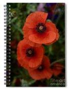 Poppy Garden Spiral Notebook