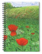 Poppy In Country Spiral Notebook