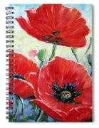 Poppy Love Floral Scene Spiral Notebook