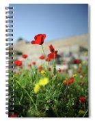 Red Poppy Flower On The Meadow Spiral Notebook