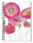 Poppy Painting On White Background Spiral Notebook