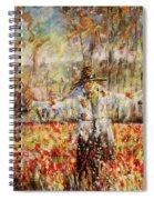 Poppy Scarecrow Spiral Notebook