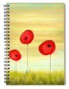 Poppy Sunset Spiral Notebook