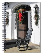 Porch At Boone Hall Plantation Charleston Sc Spiral Notebook