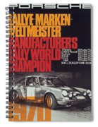Porsche 1970 Rally World Champion Spiral Notebook