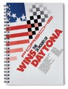 Porsche 24 Hours Of Daytona Wins Spiral Notebook