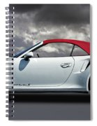 Porsche 911 Turbo S With Clouds Spiral Notebook