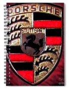 Porsche Emblem Spiral Notebook