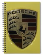 Porsche Emblem On Racing Yellow Spiral Notebook