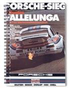 Porsche Vallelunga Vintage Racing Poster Spiral Notebook
