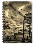 Port Crane At Sunset Spiral Notebook