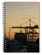 Port Of Oakland Sunset Spiral Notebook