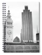 Port Of San Francisco Black And White- Art By Linda Woods Spiral Notebook