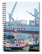 Port Of Valpaparaiso-chile Spiral Notebook